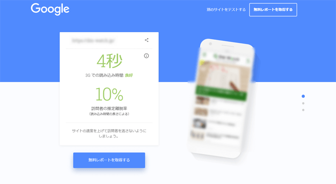 Test My Siteの調査結果